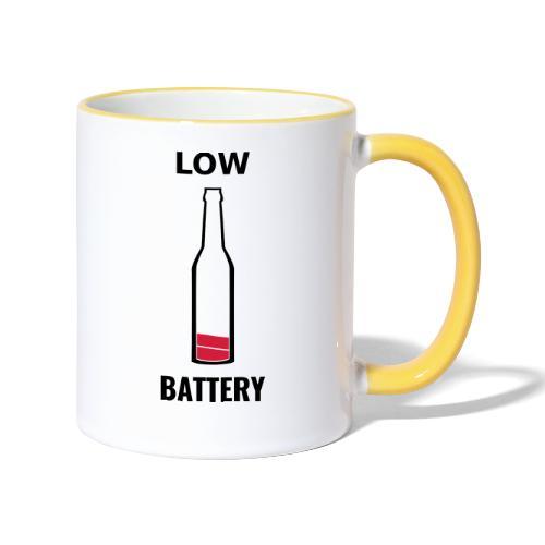 Beer Low Battery - Mug contrasté