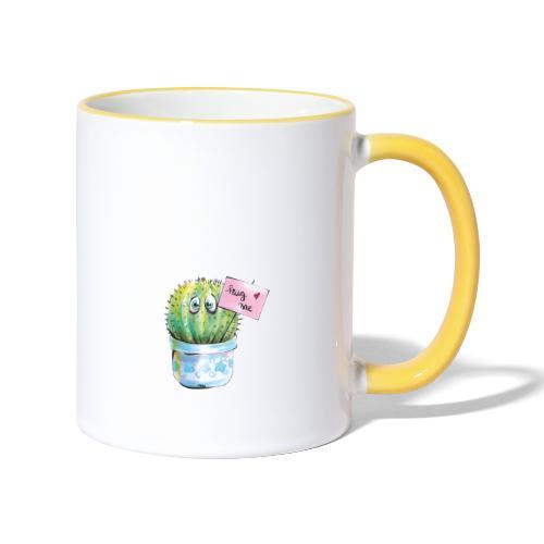 hug me - Tasse zweifarbig