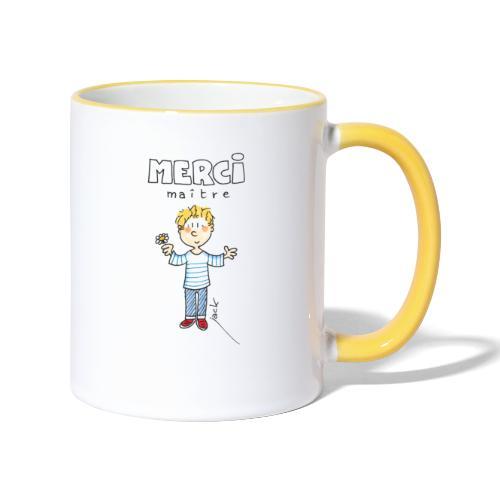 2020 06 Merci Maitre - Mug contrasté