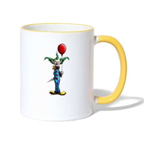 klaun tee - Tvåfärgad mugg