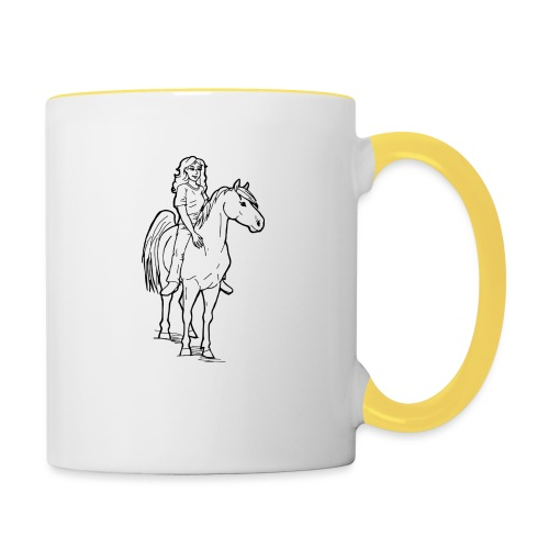freie Reiterin - Tasse zweifarbig
