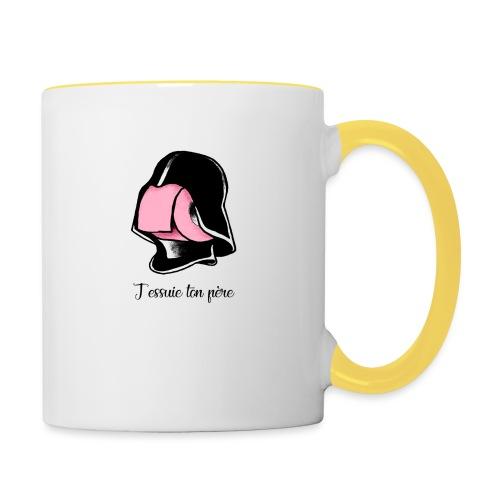 j'essuie ton père - Mug contrasté