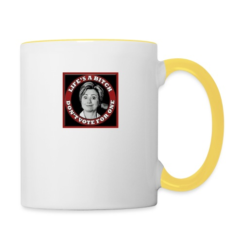 Don't Vote Hilary - Contrasting Mug