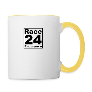 Race24 logo in black - Contrasting Mug