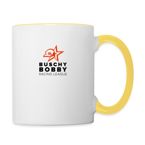 Buschy Bobby Racing League on white - Contrasting Mug