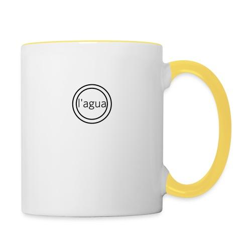 l agua black theme - Contrasting Mug