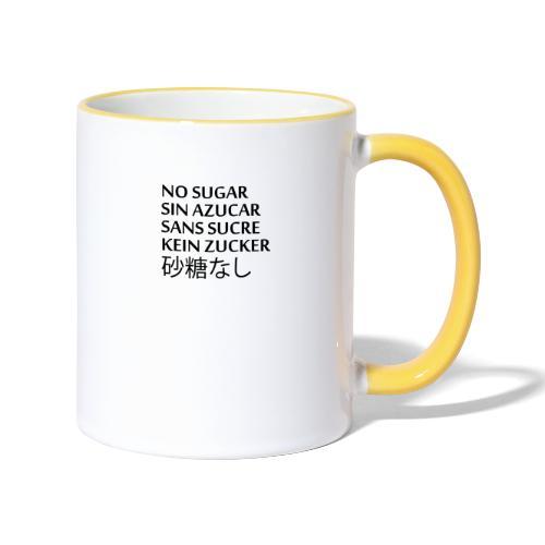 NO SUGAR - Tvåfärgad mugg