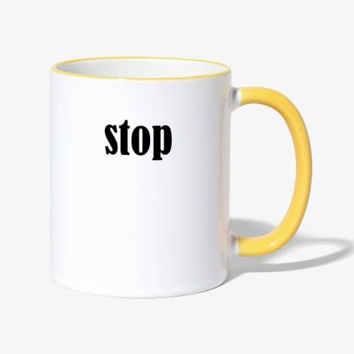 stop - Tofarvet krus