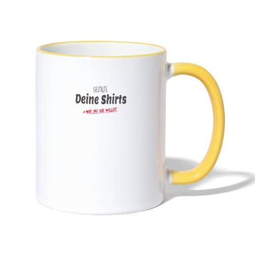 Dein Design - Tasse zweifarbig