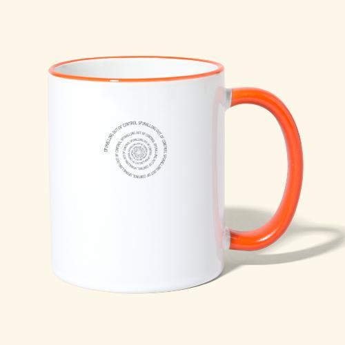 SPIRAL TEXT LOGO BLACK IMPRINT - Contrasting Mug