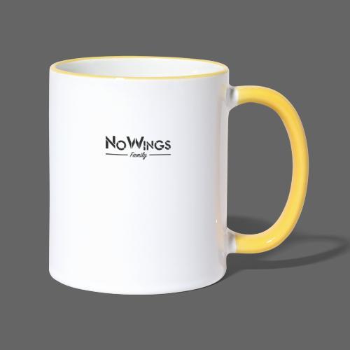 NoWings_Fam - Tasse zweifarbig