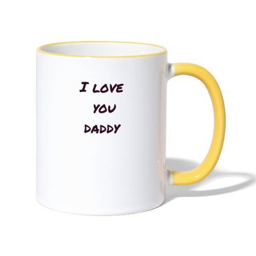 Ich liebe dich Papa - Vatertagsgeschenktipp - Tasse zweifarbig