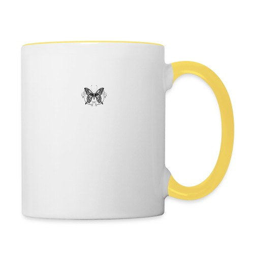 vlinder - Mok tweekleurig