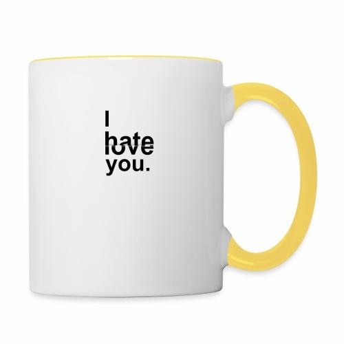 love hate - Contrasting Mug