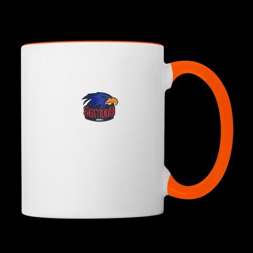 Sektion9 Dunkelblau - Tasse zweifarbig