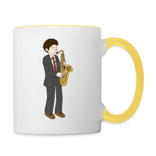 Saxofonist - Tofarget kopp