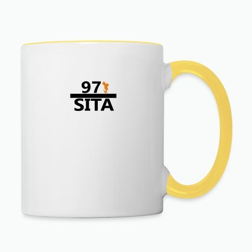 Sweat manche longue 97-Sita - Mug contrasté