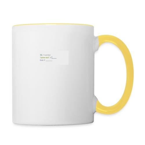 code - Mug contrasté