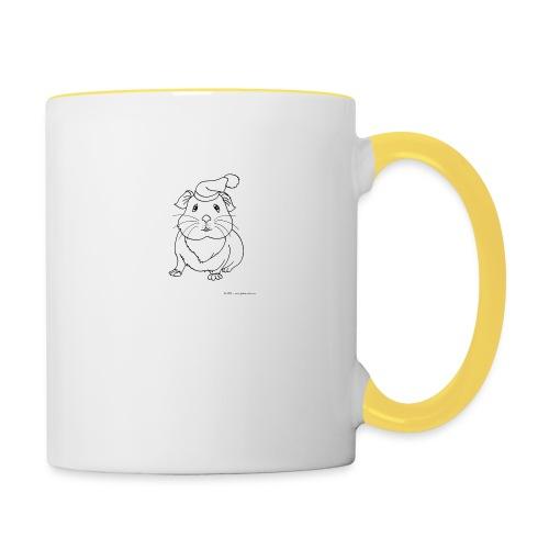 Hamster petite souris blanche guinea - Mug contrasté