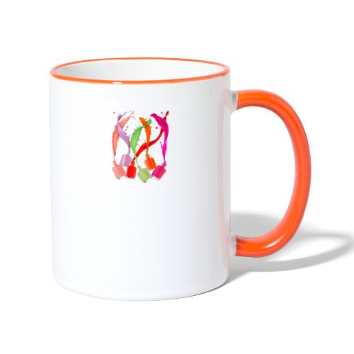 clothes feminine a little of everything - Taza en dos colores