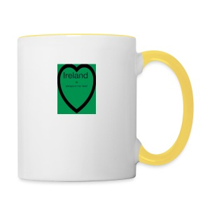 Ireland always in my heart - Contrasting Mug