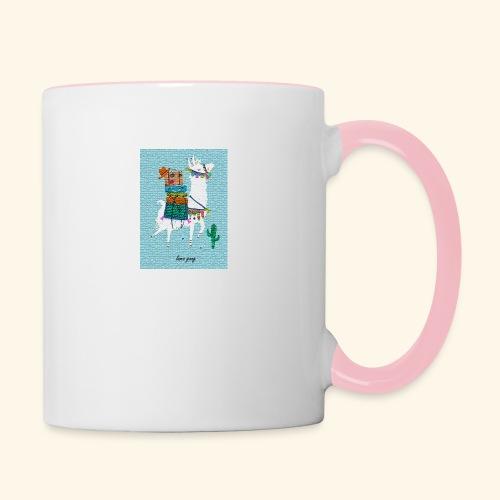 Lama Gang - Tasse zweifarbig
