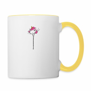 Janina Johnson Zipper Unicorn - Tasse zweifarbig