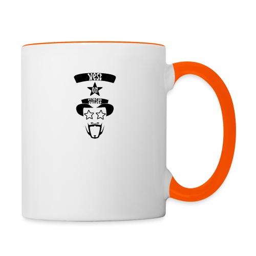 westonsunset_head - Contrasting Mug