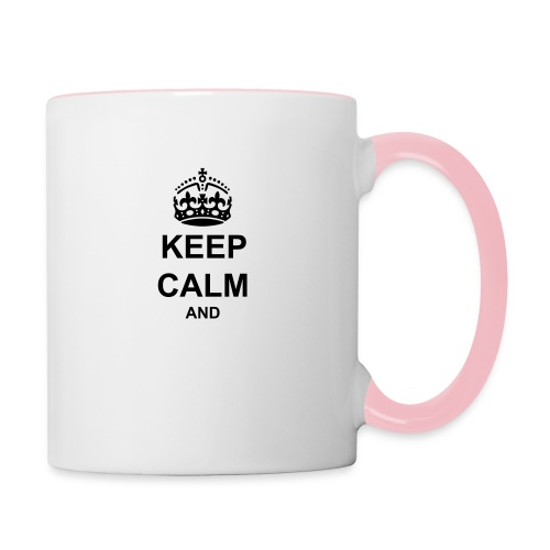 Keep Calm And Your Text Best Price - Contrasting Mug