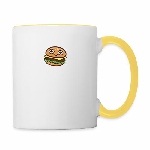 Burger Cartoon - Mok tweekleurig