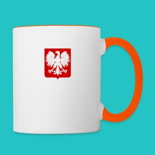 Koszulka z godłem Polski - Kubek dwukolorowy