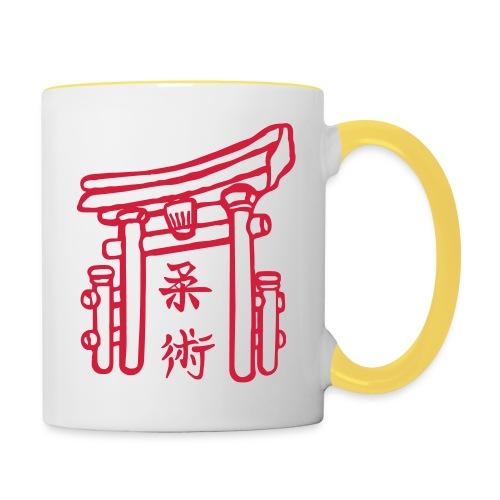 Jiujitsu_Tor - Tasse zweifarbig