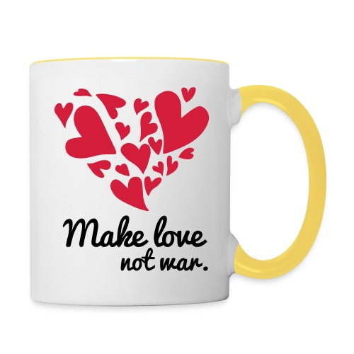 Make Love Not War T-Shirt - Contrasting Mug
