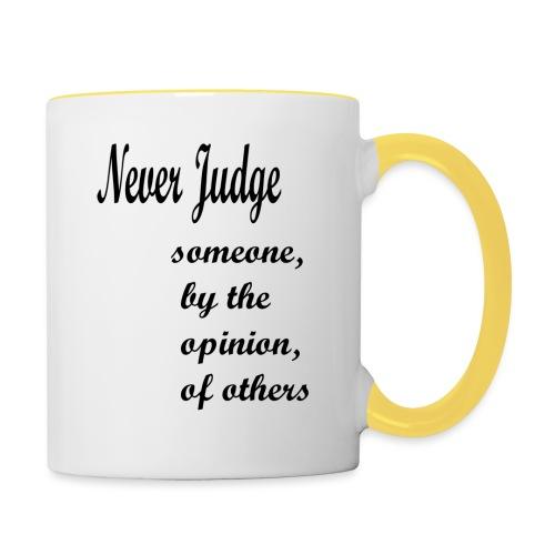 Never Judge - Contrasting Mug