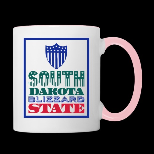 South Dakota blizzard state - Contrasting Mug