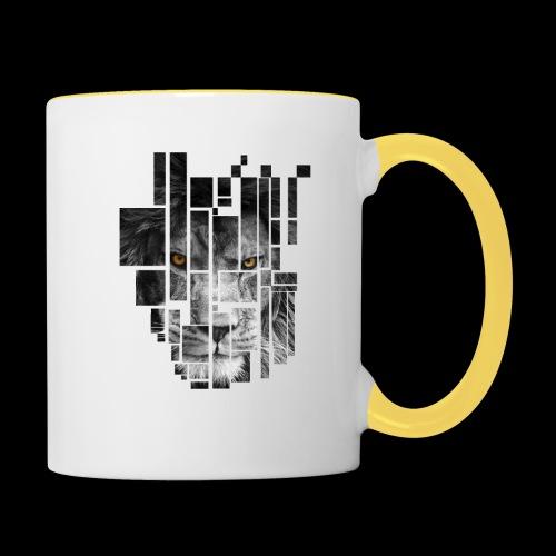 Pixel Lion Tattoo Inspire - Contrasting Mug