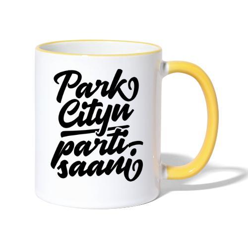 Puistola - Park Cityn partisaani - Kaksivärinen muki