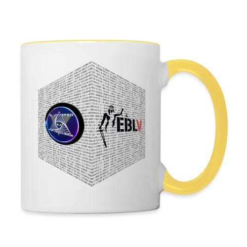 disen o dos canales cubo binario logos delante - Contrasting Mug