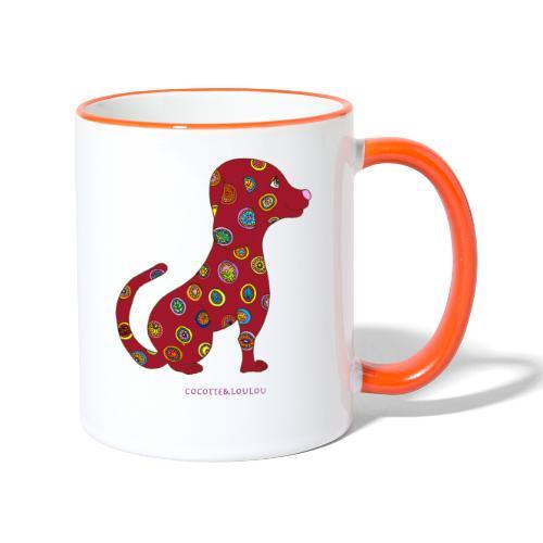 Lilo le chien fleuri - Mug contrasté