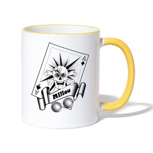 t shirt petanque milieu crane as pointe tir boules - Mug contrasté