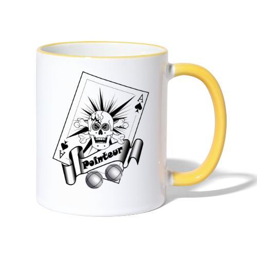 t shirt petanque pointeur crane boules as pointeur - Mug contrasté