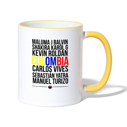 Reggaeton Shirt Kolumbien - Tasse zweifarbig
