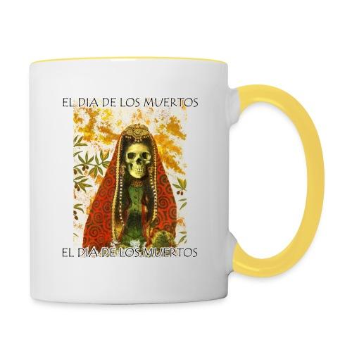 El Dia De Los Muertos Skeleton Design - Contrasting Mug