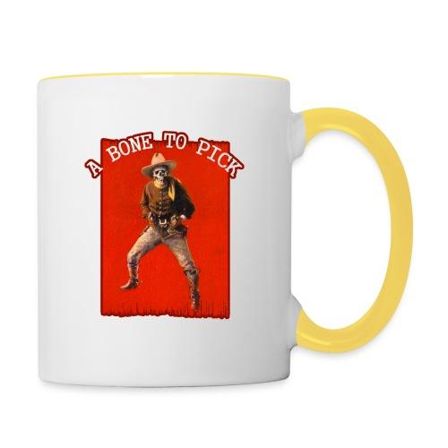 Vintage Skeleton Outlaw Cowboy - Contrasting Mug