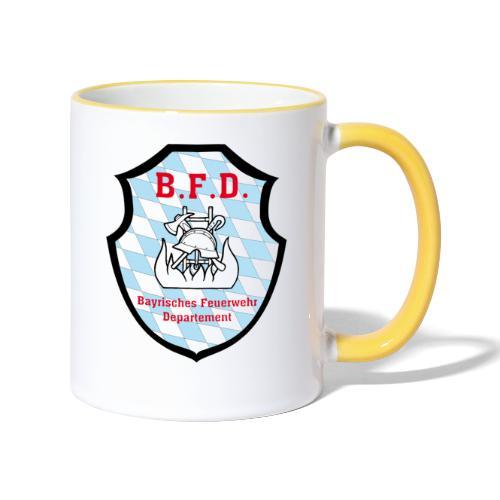 Inoffizielles bayrisches Feuerwehrabzeichen - Tasse zweifarbig