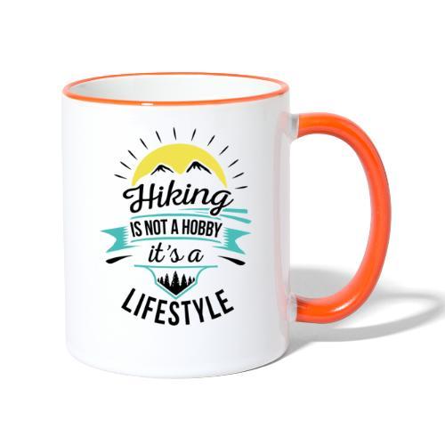 Wandern ist kein Hobby, es ist ein Lifestyle - Tasse zweifarbig