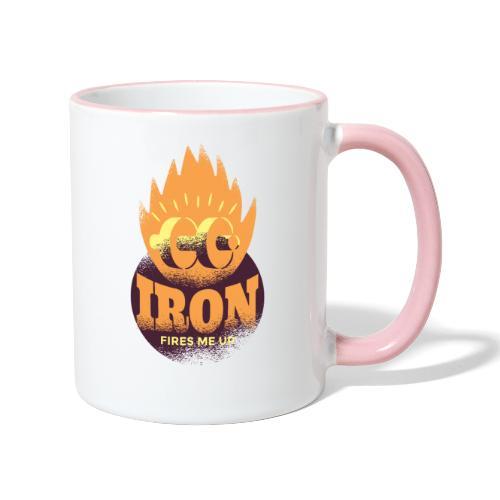Eisen Feuer feuert mich an Bodybuilding Fitness - Tasse zweifarbig