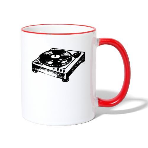 DJ Symbol Musik Musiker Party Disco - Tasse zweifarbig
