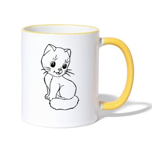 Katzen Symbol Katze süß Kützchen Haustier - Tasse zweifarbig