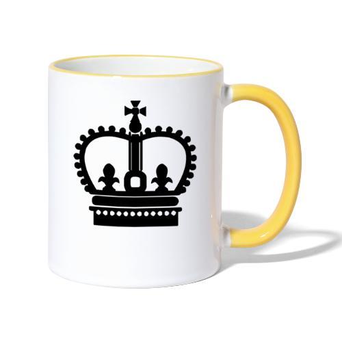 Krone Symbol König Kaiser Königin Mittelalter - Tasse zweifarbig